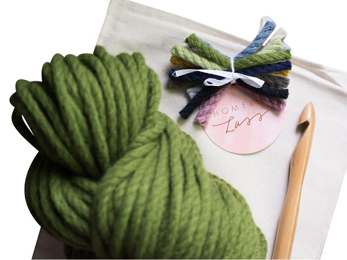 homelea lass chunky crochet kit
