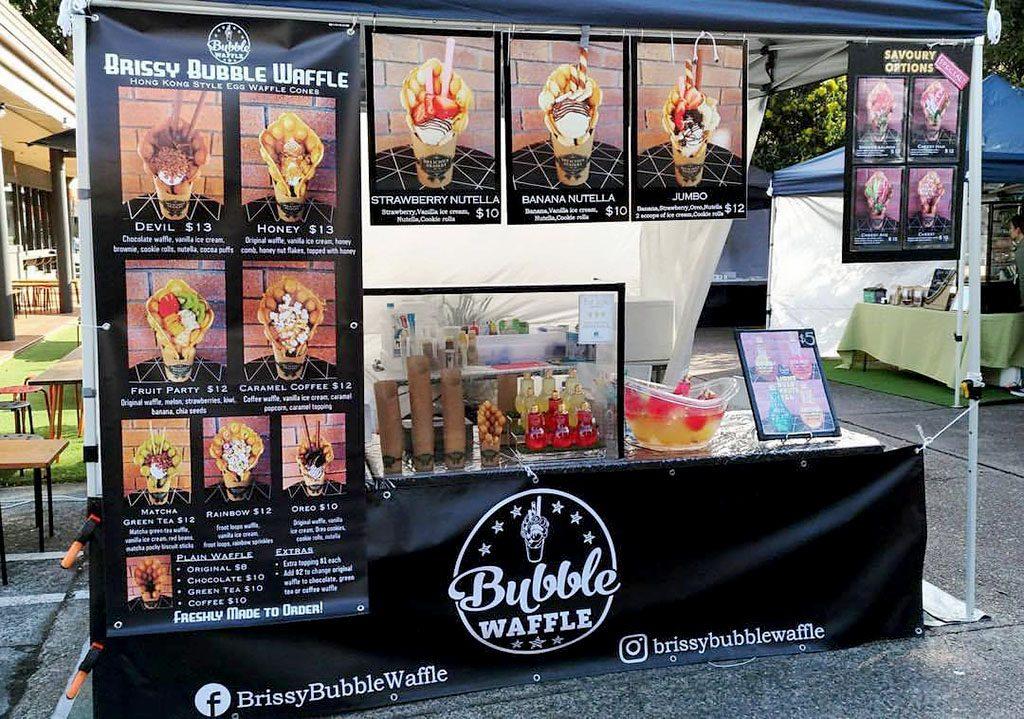 brissy bubble waffle food stall
