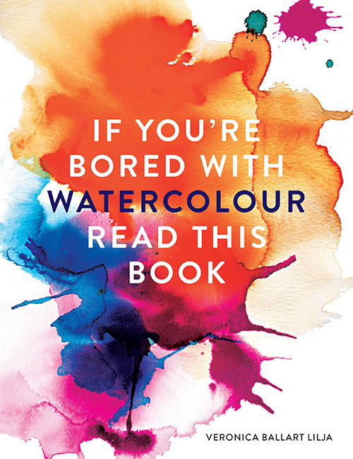 bored with watercolour book cover