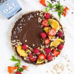 oat chocolate mousse tart