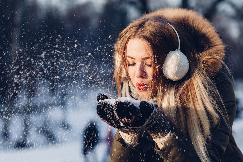 woman snow